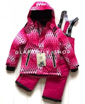 PogoKids, костюм зимний для девочки арт 88841 ( малиновый)