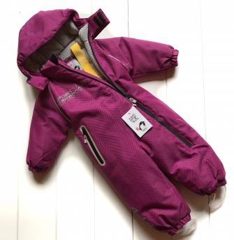 PogoKids, комбинезон зимний с косой молнией арт 88843 (цвет фиолетовый)