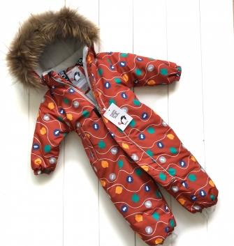 Pogo Kids, комбинезон зимний, арт Pg88867 ( цвет кэмел)
