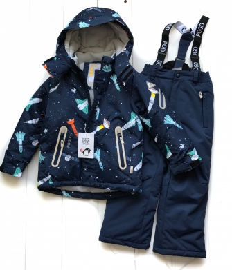 PogoKids, костюм зимний для мальчика арт 88837 (navy)