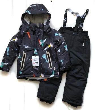 PogoKids, костюм зимний для мальчика арт 88837 (grey)