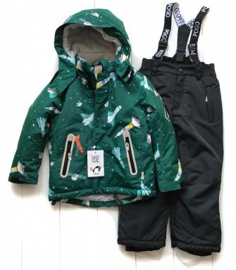 PogoKids, костюм зимний для мальчика арт 88837 (green)