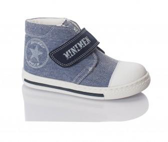 Minimen, ботинки на липучке (джинсовые)