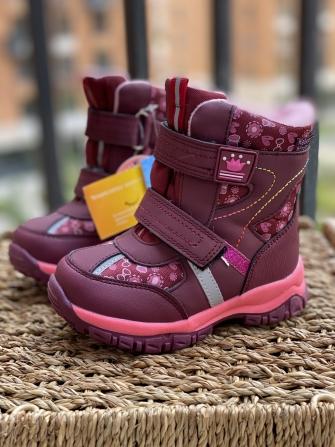 Tom-Miki, ботинки зимние для девочки принцесса (бордовые )