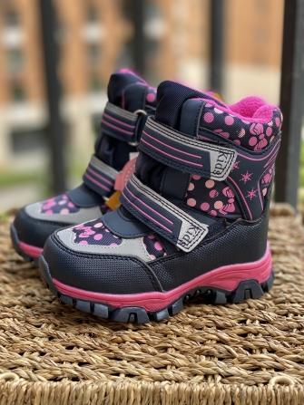 Tom-Miki, ботинки зимние для девочки конфети (синие)