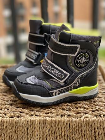 Tom-Miki, ботинки зимние для мальчика  (черные/серые)