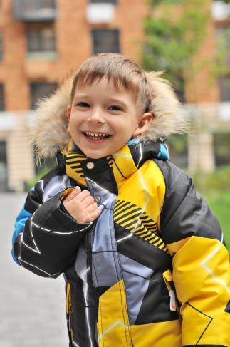 Mys, костюм зимний для мальчика абстракция (цвет желтый)