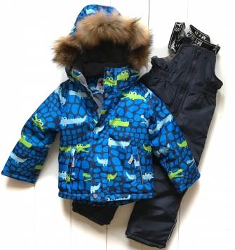 "Mys, костюм зимний для мальчика ""кроко""(цвет голубой)"