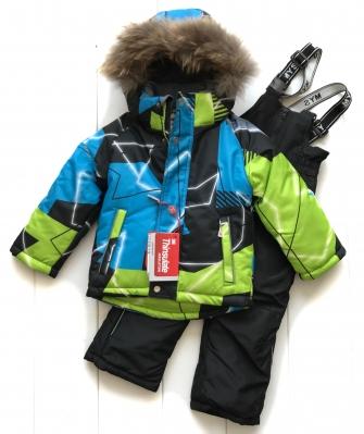 Mys, костюм зимний для мальчика абстракция (цвет зеленый)