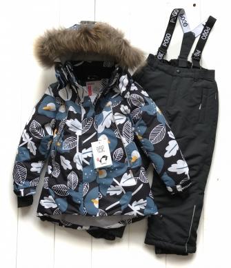 PogoKids, костюм зимний для девочки арт 88876 (чёрный)