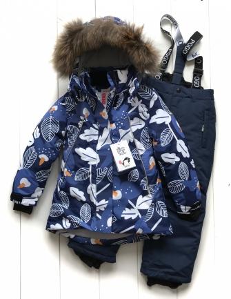 PogoKids, костюм зимний для девочки арт 88876 (серо-синий)
