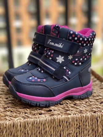 Tom-Miki, ботинки зимние для девочки (синий)
