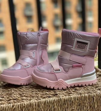 Ботинки-дутики зимние для девочки (розовый)