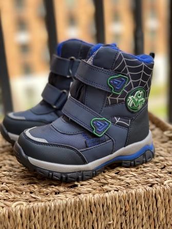 Tom-Miki, ботинки зимние для мальчика Spider (синий)