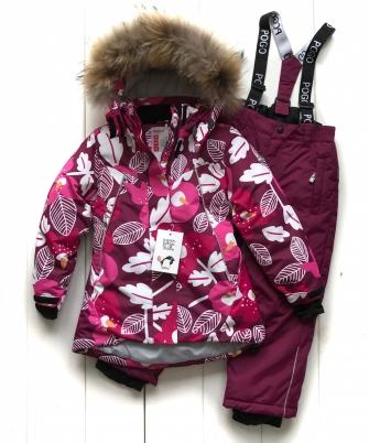 PogoKids, костюм зимний для девочки арт 88876 ( бордовый)