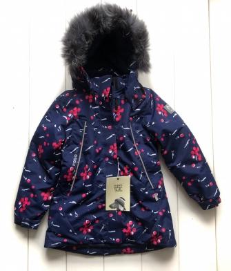 PogoKids,  зимняя парка- пальто  для девочки (синий)