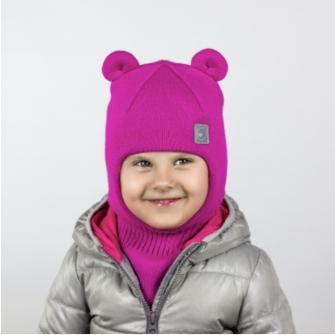 Шлем трехслойный мишка. Цвет малина