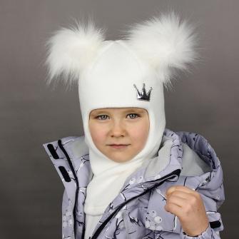 """Шлем """"Корона"""" трехслойный. Цвет белый"""