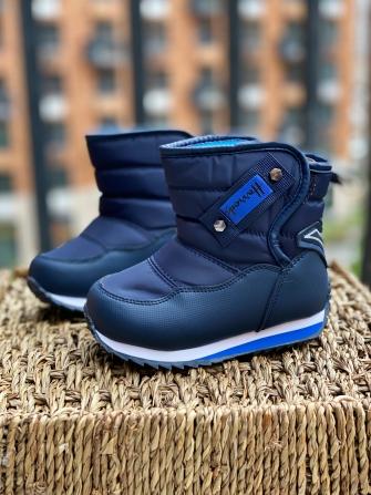 Ботинки-дутики зимние для мальчика , цвет синий