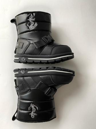 Ботинки-дутики зимние для мальчика , цвет чёрный