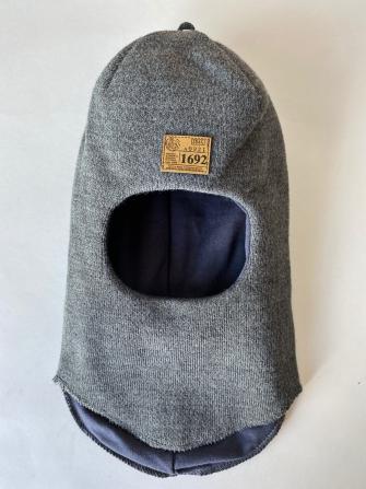 Шлем трехслойный с шевроном. Цвет графит